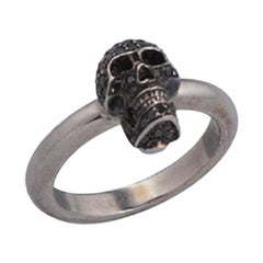 Deakin & Francis Limited Edition Black Diamond Skull Ring