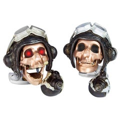 Deakin & Francis Limited Edition LED Pilot Skull Cufflinks