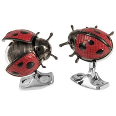 Deakin & Francis Moving Ladybird Cufflinks