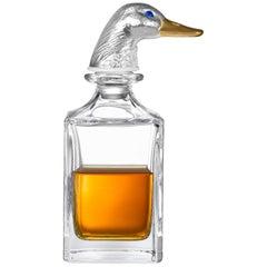 Deakin & Francis Silver Duck Head Crystal Decanter
