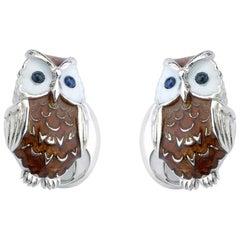 Deakin & Francis Silver Owl Cufflinks