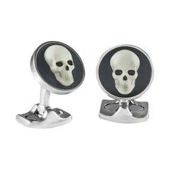 Deakin & Francis Skull Cameo Cufflinks