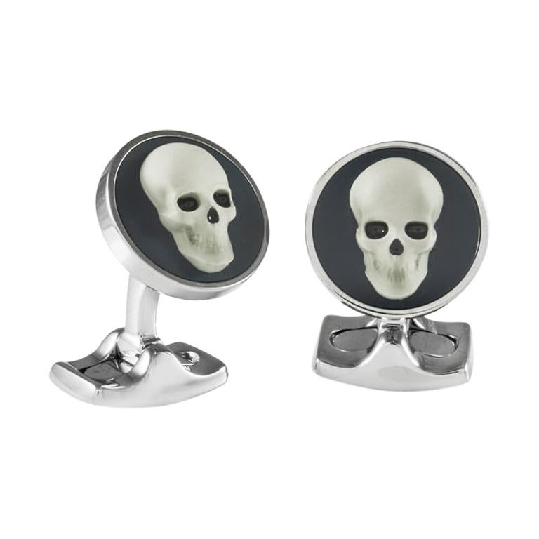 Deakin & Francis Skull Cameo Cufflinks For Sale