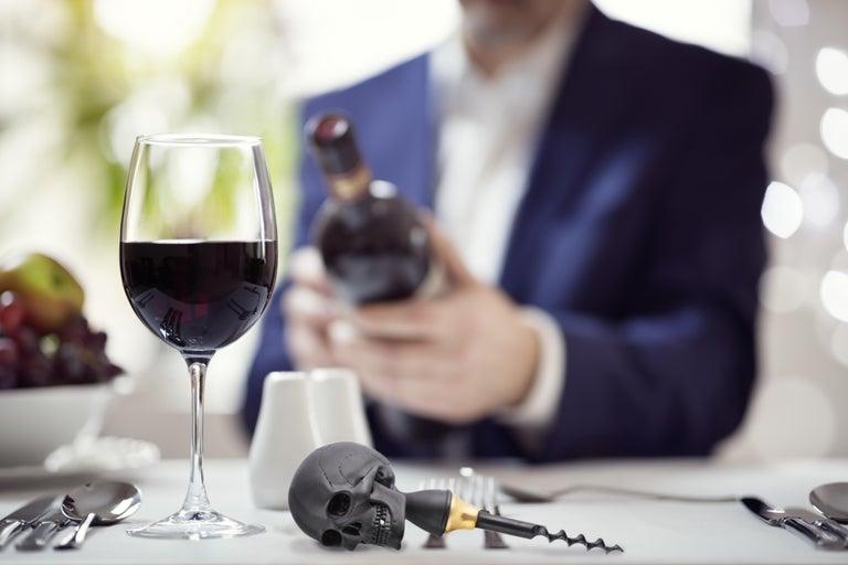Contemporary Deakin & Francis Skull Corkscrew in Black For Sale