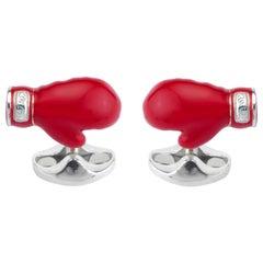 Deakin & Francis Sterling Silver Boxing Glove Cufflinks