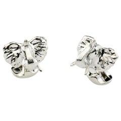Deakin & Francis Sterling Silver Elephant Cufflinks