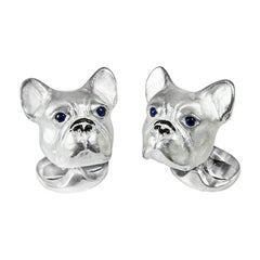 Deakin & Francis Sterling Silver French Bulldog Cufflinks