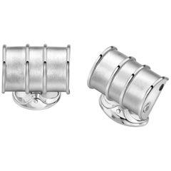 Deakin & Francis Sterling Silver Oil Drum Cufflinks