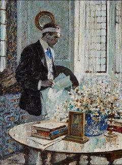 Man with Bandaged Head, Saturday Evening Post Illustration