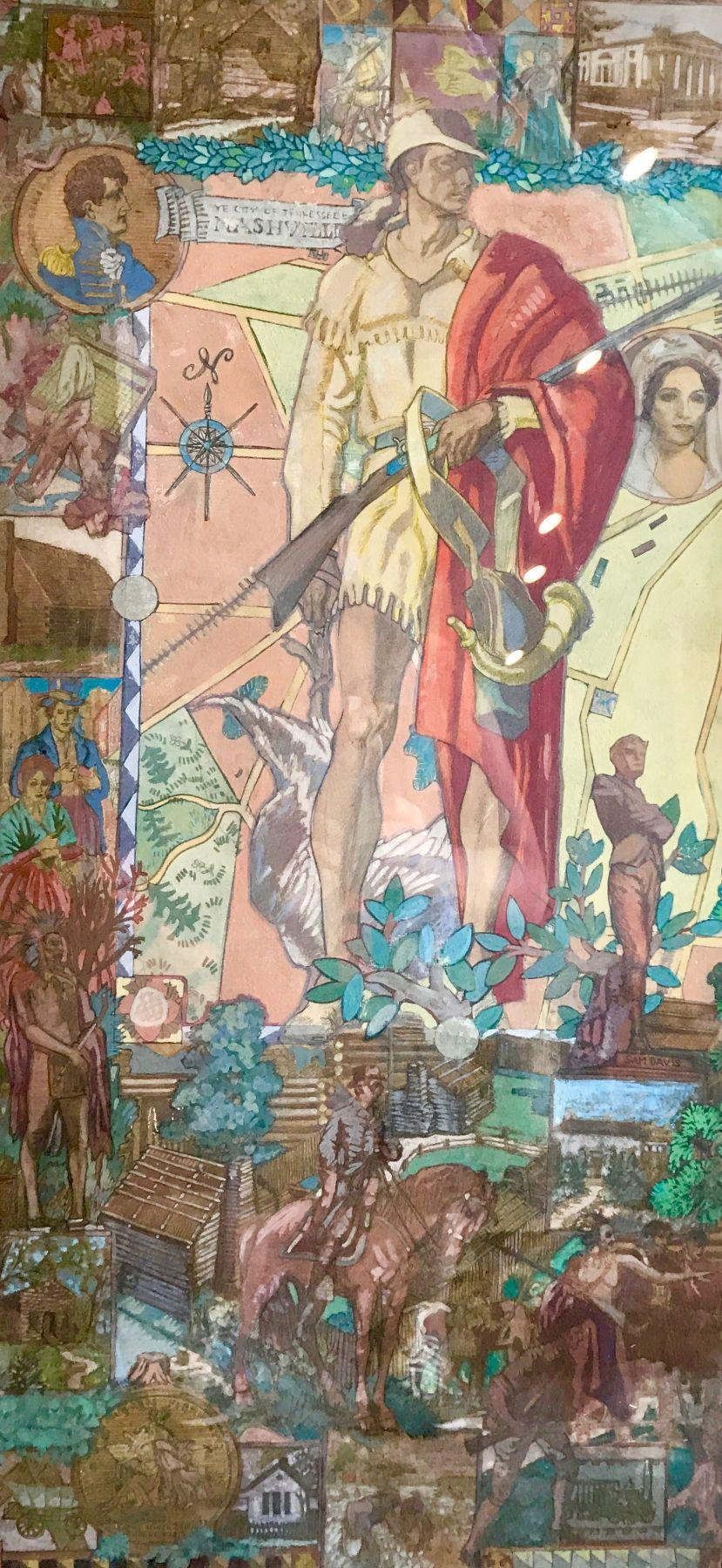 Study for Mural in the Lobby of WPA Courthouse in Nashville
