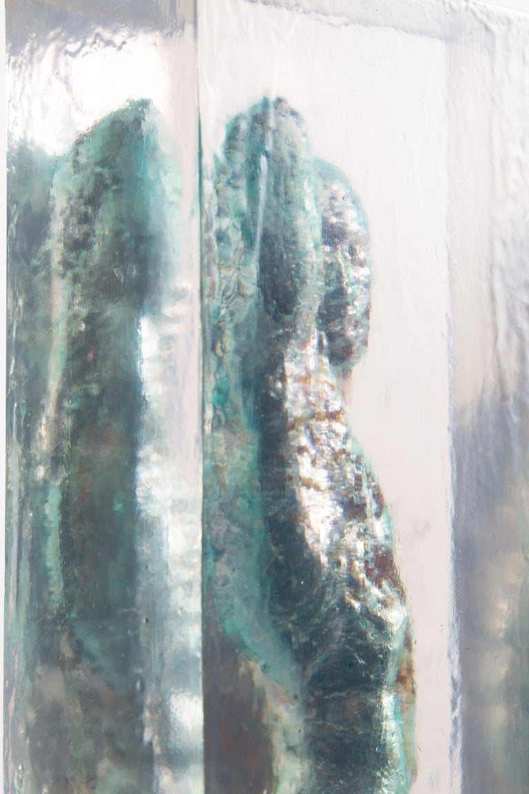 Embedded Slave - After Michelangelo, Sculpture Half Embedded in Clear Resin 16