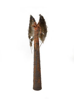 Guardian: Obscura - Bronze and Mixed Media Sculpture, Rust and Iron Patina