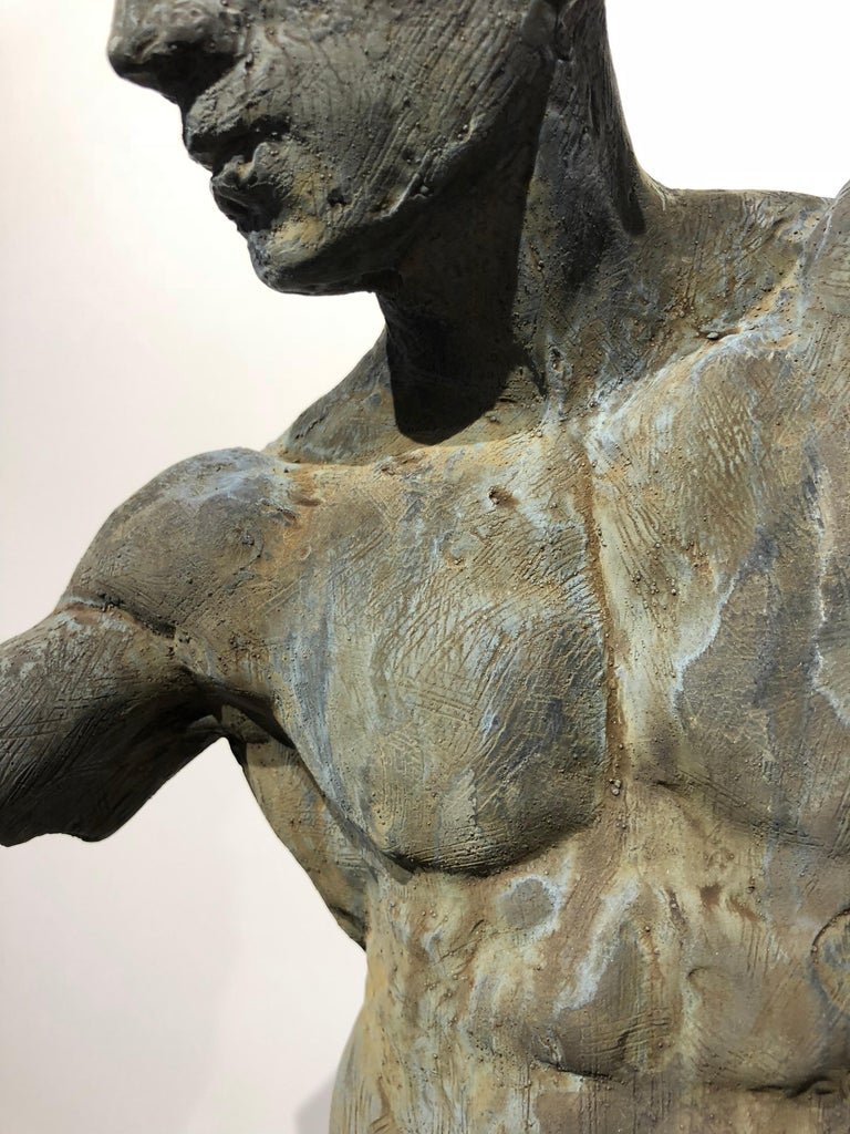 Iron Relic - Bronze Male Nude Sculpture Torso in Classical Style by Dean Kugler For Sale 4