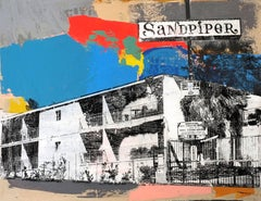 Sandpiper, Mixed Media on Wood Panel