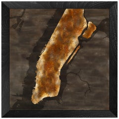 """Dear Home"" Collector's Edition Maps Made by Etching Patinas into Metal"