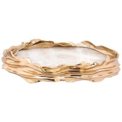 Dear Sonja Polished Bronze and Translucent Onyx Centerpiece Vessel