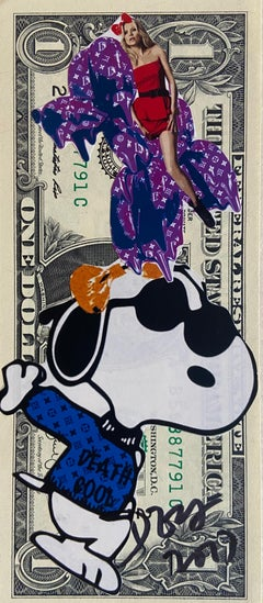 """Rare dollar banknote by Death NYC, """"Blue Snoopy"""""""