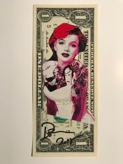 "Rare dollar banknote by Death NYC, ""geisha marilyn"""