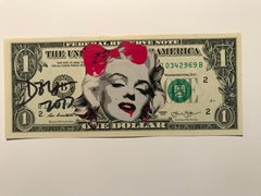 "Rare dollar banknote by Death NYC, ""pink vampire Marylin"""