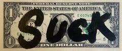 "Rare dollar banknote by Death NYC, ""Suck"""