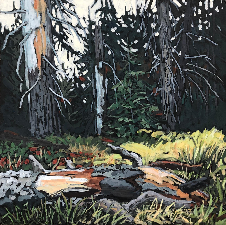 """Generations,"" Gouache Painting"