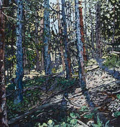 """""""Retreating to the Forest Floor"""" Oil Painting"""