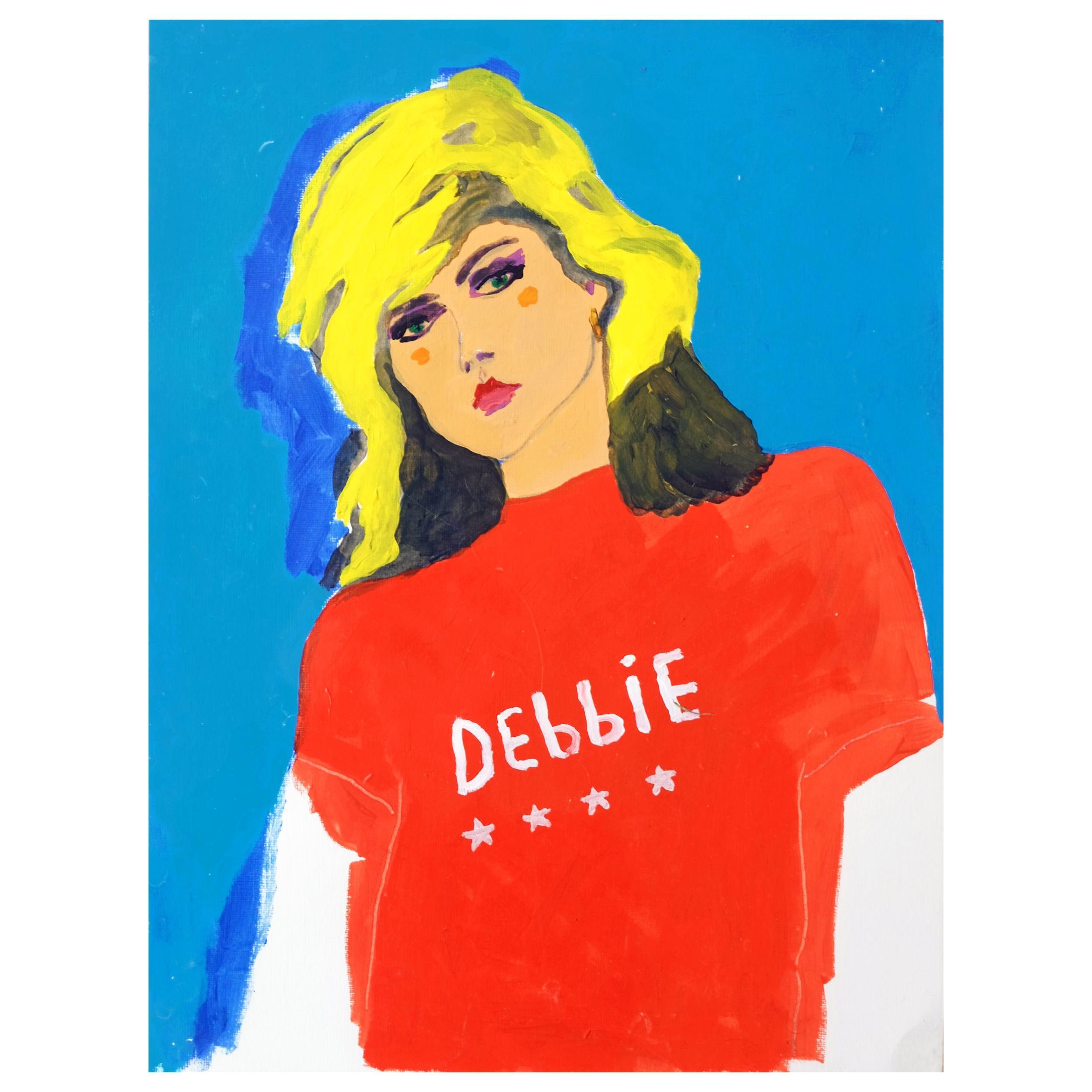 'Debbie Harry' Portrait Painting by Alan Fears Acrylic on Paper