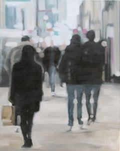 A Walk in the City, Painting, Oil on Canvas