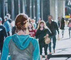 Crossroads, Painting, Oil on Wood Panel