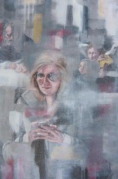 Veiled, Painting, Oil on Wood Panel