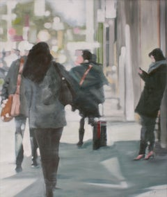 Walking Away, Painting, Oil on Wood Panel