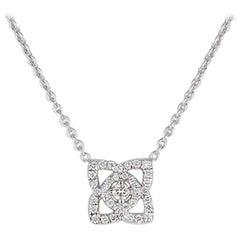 DeBeers Enchanted Lotus 18 Karat White Gold and Diamond Necklace Pendant