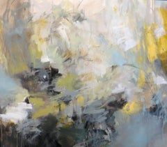 Excavation by Debora Stewart, Horizontal Abstract Acrylic on Canvas Painting