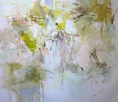 Flourish by Debora Stewart Large Horizontal Abstract Botanical Painting