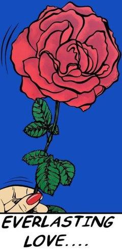 Deborah Azzopardi, Everlasting Love, Acrylic on Paper, Pop Art, Bright colour