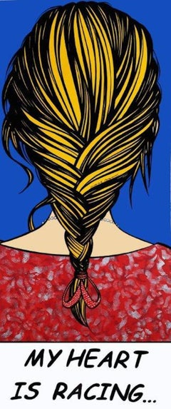 Deborah Azzopardi, Racing Heart, Acrylic on Paper, Pop Art