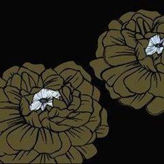 Deborah Azzopardi, Warhol Flowers, Brown, Acrylic on Board