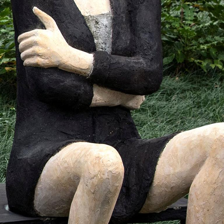 """The figure has always been Deborah Ballard's muse in her sculptures. Ballard works in bronze, cast stone, and plaster; her figures ranging from life-size to hand-size. Ballard says, """"I always have this inner voice that dictates what I do and how I"""
