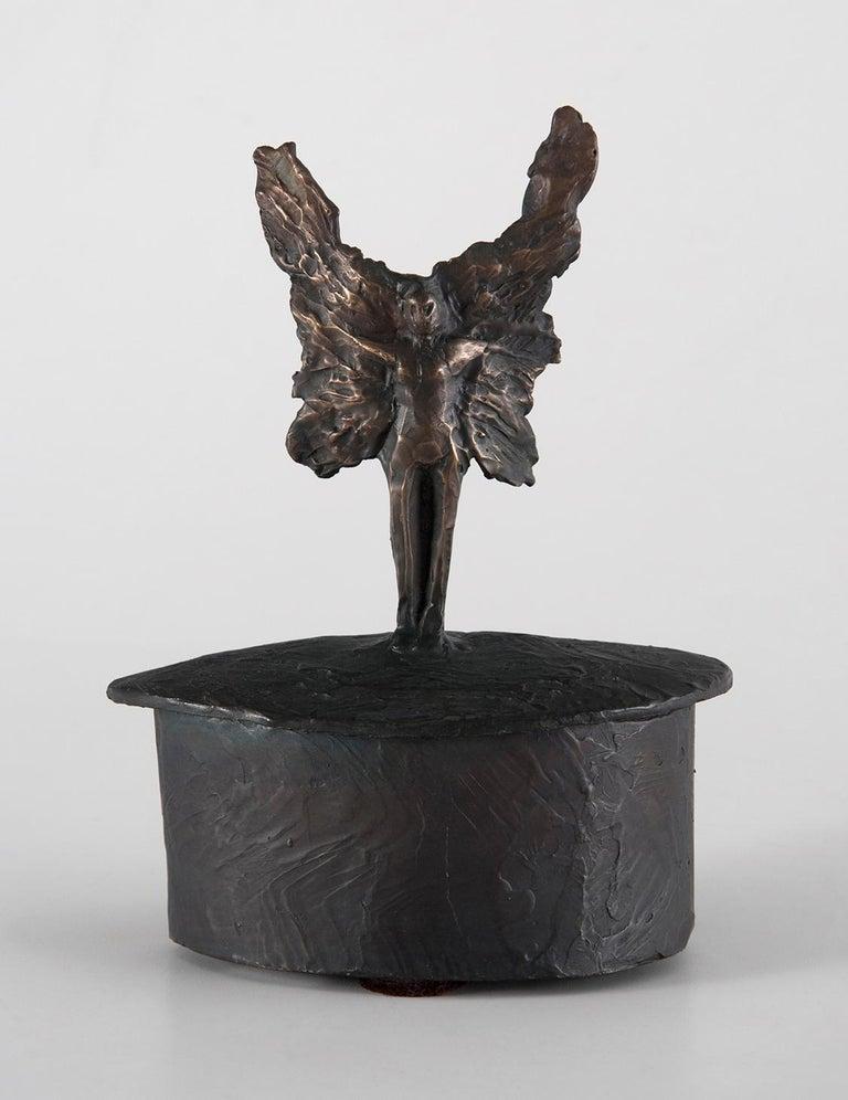 Deborah Ballard Figurative Sculpture - Guardian Angel Box