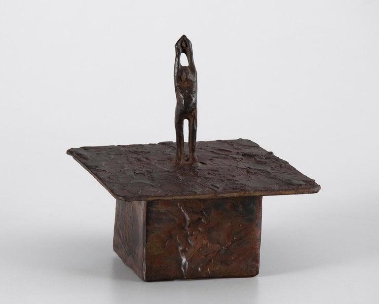 Deborah Ballard Figurative Sculpture - Saving Gaia / Release Box