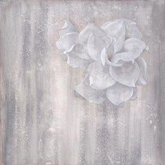 April Shower-white and grey 40 X 40\