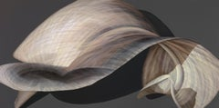 Beige and Grey Lily Pedal-Untitled 37  35 X 70