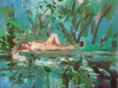 """Ophelia""-2019 oil on canvas 24"" x 18"" by painter Deborah Brown"