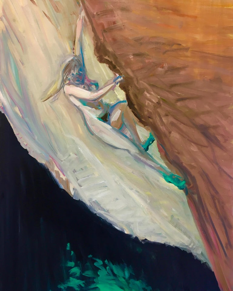 Deborah Brown Nude Painting - Rock Climber 3