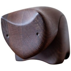 Deborah Bump Handcrafted Wood Cat Ring Box