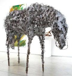 Aluminum Horse Bowing