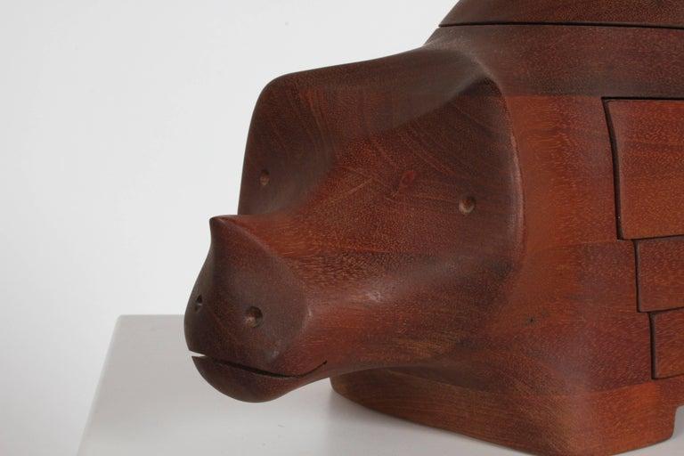 Mid-Century Modern Deborah D. Bump Rhino Jewelry Trinket Box For Sale