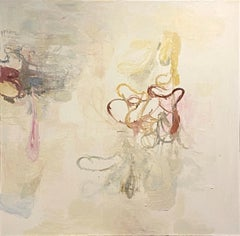 """Drip 2"" Deborah Dancy Abstract Organic Contemporary Oil Painting"
