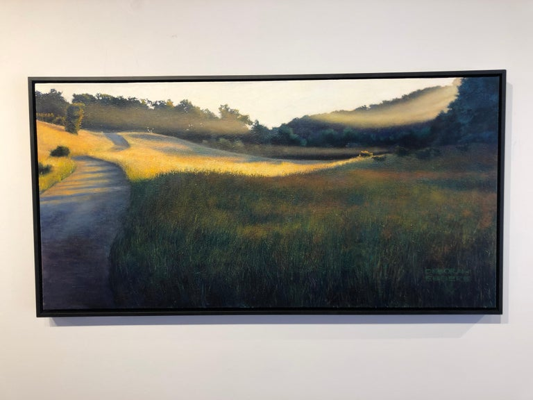The Lifting Veil - Original Oil on Canvas Painting of Mist Hovering Over a Field 2