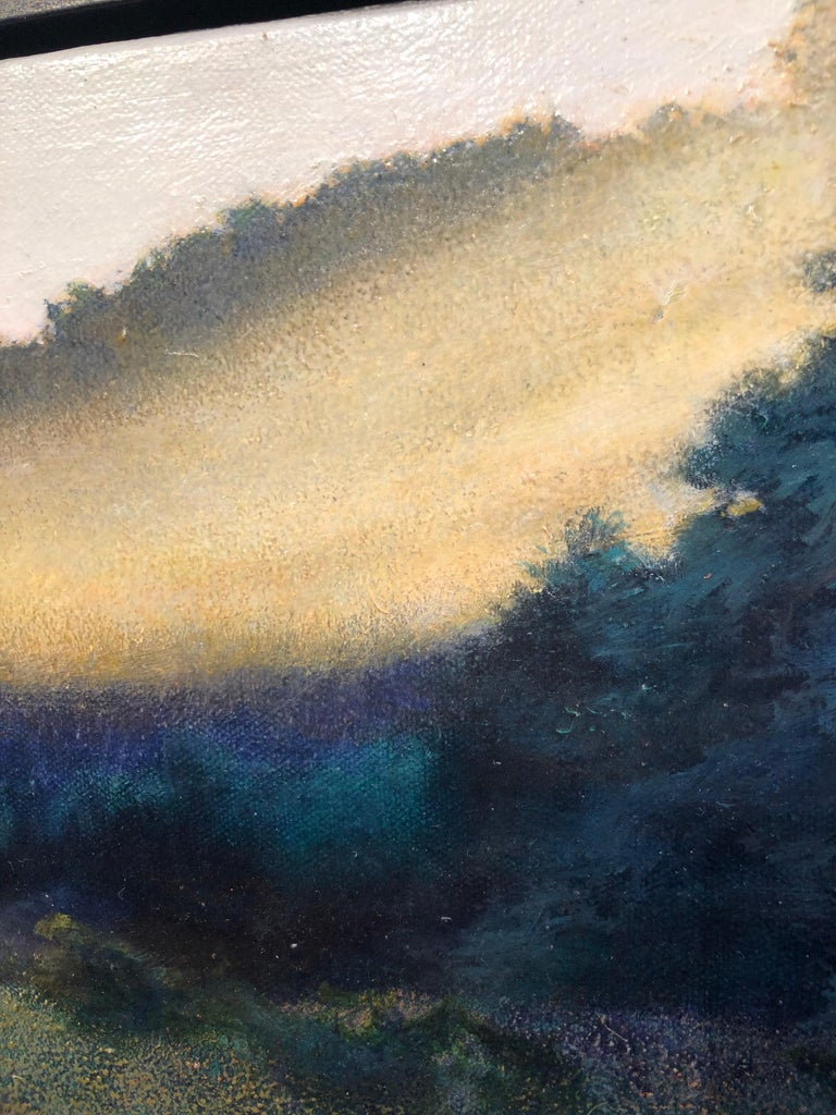 The Lifting Veil - Original Oil on Canvas Painting of Mist Hovering Over a Field 6